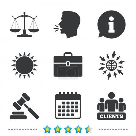 Scales of Justice icon.