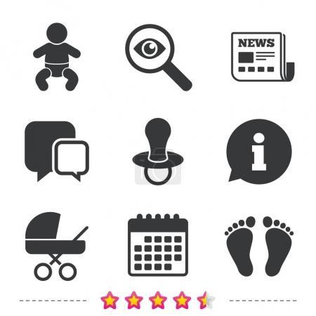 Baby infants icons.
