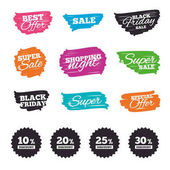 Sale banners on Ink brush colorful stripes vector illustration