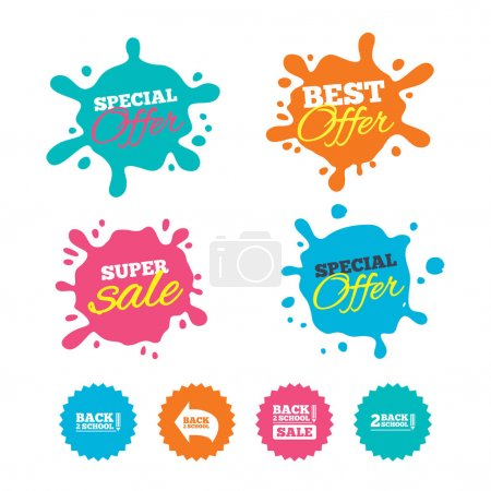 Sale banners and labels. Special offer tags. Vecto...
