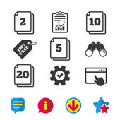 In pack sheets icons