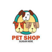pets shop pets care pets lover logo with text space for your slogan / tagline vector illustration