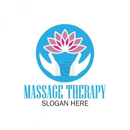 Illustration for Massage therapy logo with text space for your slogan / tagline, vector illustration - Royalty Free Image