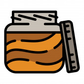Peanut choco butter icon outline style