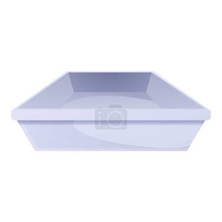 Plastic tableware icon. Cartoon of plastic tablewa...