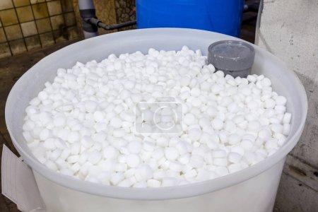 An barrel of salt blocks for the softener...