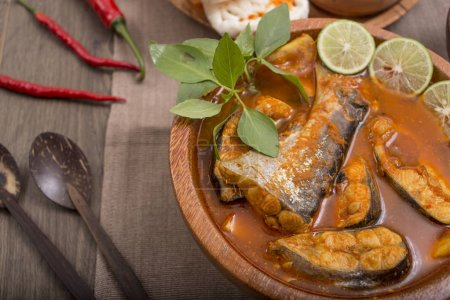 Photo for Indonesian lunch menu fish - Royalty Free Image