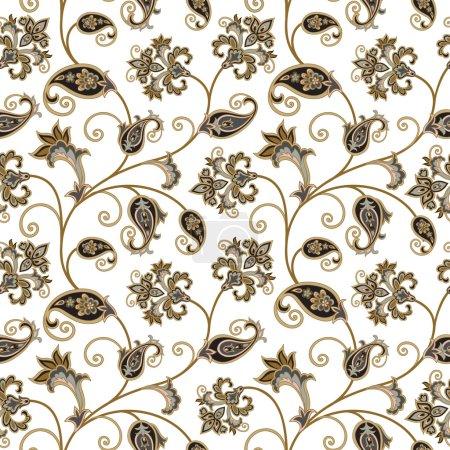 Floral seamless oriental pattern