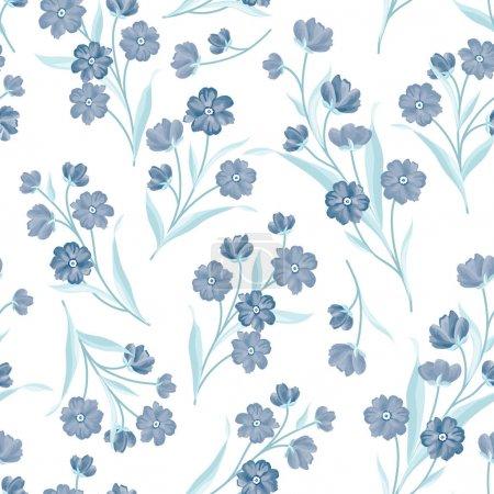 Flowers seamless pattern