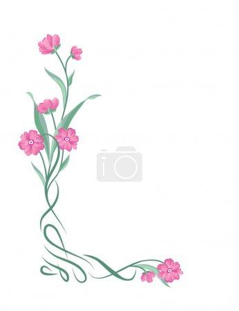 Floral bouquet frame.