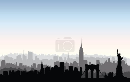 New York City buildings silhouette