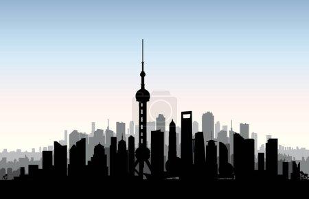 Shanghai city skyline.