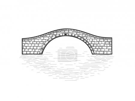 Small stone bridge sign