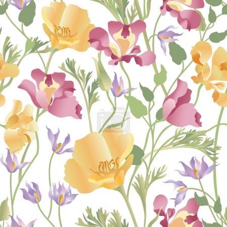 Floral ornamental white pattern