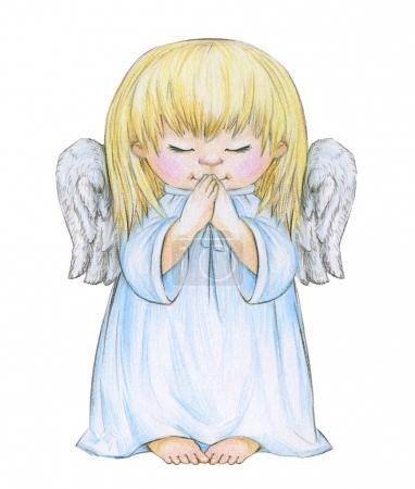 Little praying angel