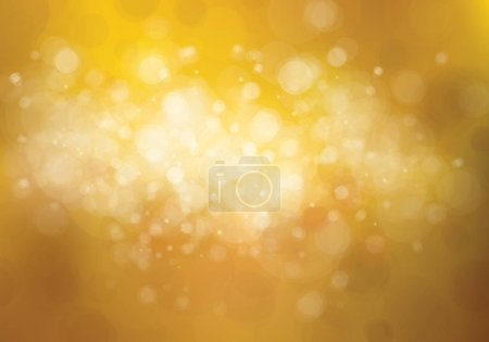 Illustration for Abstract  bokeh golden background. Vector illustration - Royalty Free Image