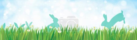 nature background with rabbits