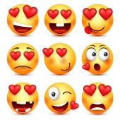 Valentines day smiley Emoji with heart Love february 14