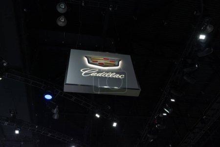 Cadillac logo on display