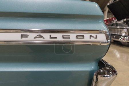 Ford Falcon emblem on display
