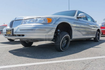 Lincoln Town on display during