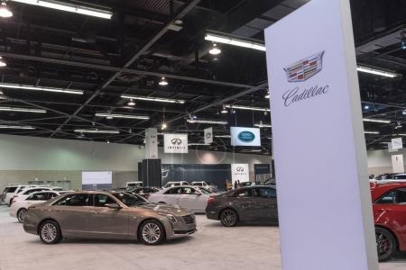 Cadillac stand on display
