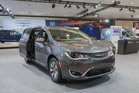 Chrysler Pacifica Hybrid on display