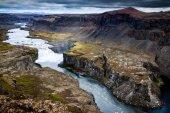 High Above Hafragilsfoss Waterfall