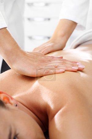 Manual back massage.