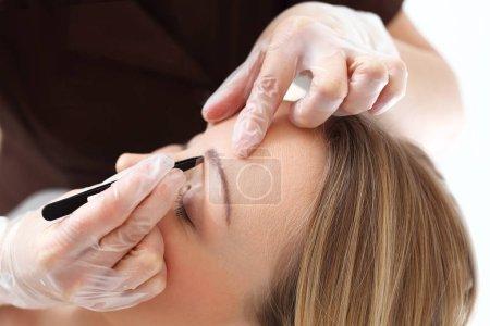 Eyebrow regulation tweezers.