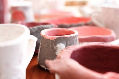 Photo for Workshop of artistic ceramics. - Royalty Free Image