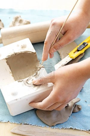 Ceramics and pottery Clay painting