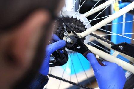 Bicycle service, installation derailleur