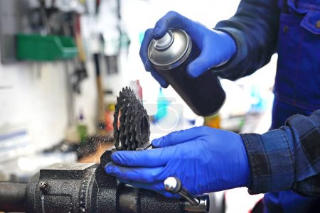 Lubrication and maintenance of the bicycle.