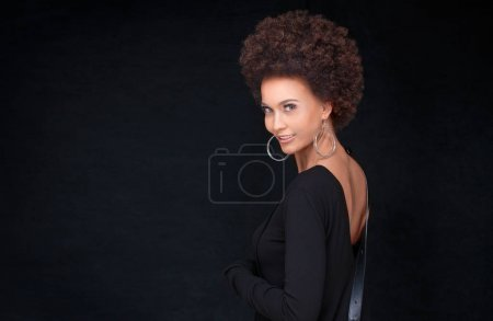Fashionable afro woman posing.