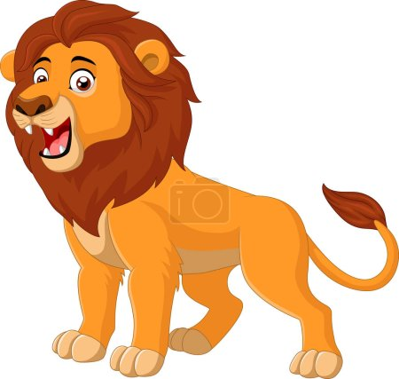 Illustration for Vector illustration of Cartoon lion roaring - Royalty Free Image