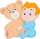 Malé dítě s Medvídek