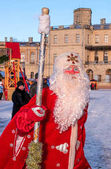 Gatchina, Russia - January 7, 2018: Christmas show for children on the parade ground in front of the Gatchina Palace.