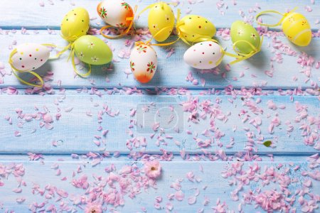 Easter background. Selective focus
