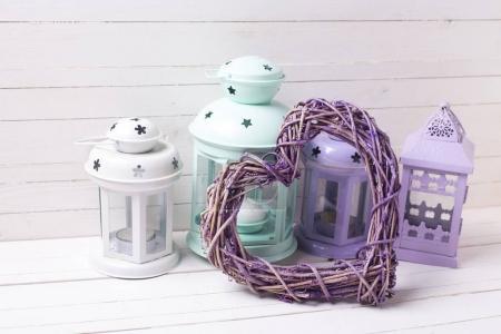 Decorative lanterns and heart