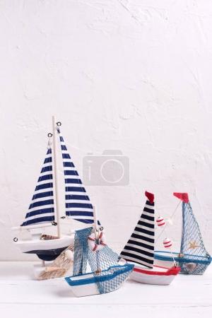 Decorative  wooden toys boats