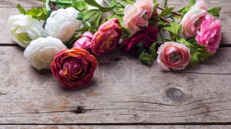 Frame from flowers  on vintage background.