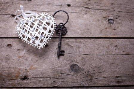 Decorative  heart and key
