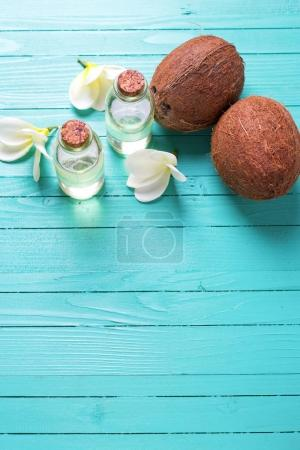 Bottles with coconut oil