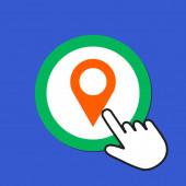 Map pointer icon Location destination concept Hand Mouse Curs