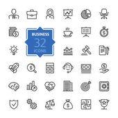 Obchodní a finanční web ikony set - osnovy ikona kolekce, vektorové