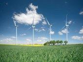 """Постер, картина, фотообои """"Ветровая электростанция. Состав экологической энергии"""""""