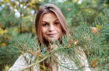 Autumn portrait in park