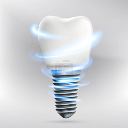 Icon human dental implant. Stock illustration.