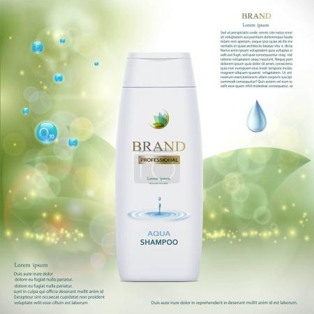 Illustration for Plastic tube with hair shampoo. Product brand design.vector illustration. - Royalty Free Image